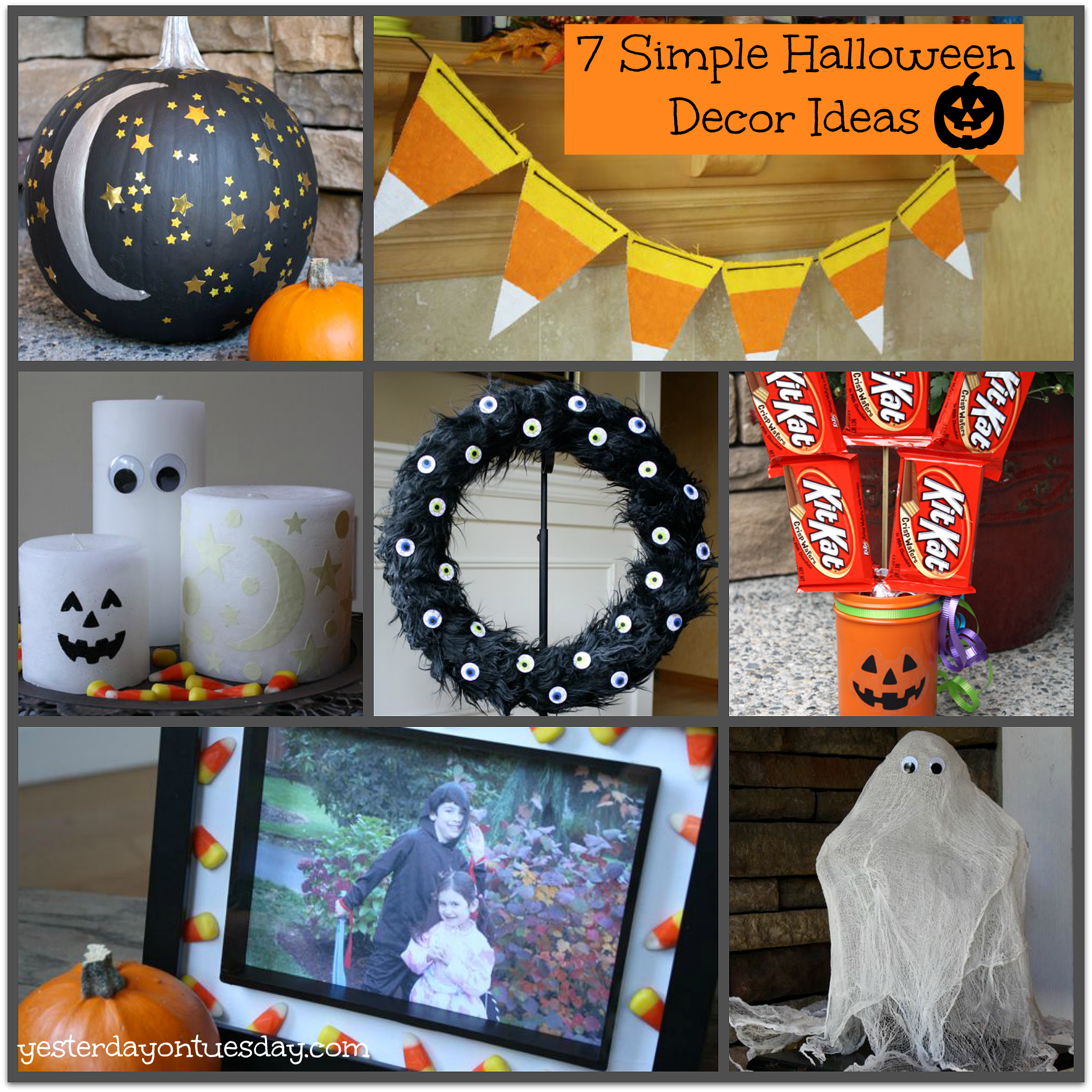 easy craft ideas for halloween corn bunting yesterday on tuesday 6510