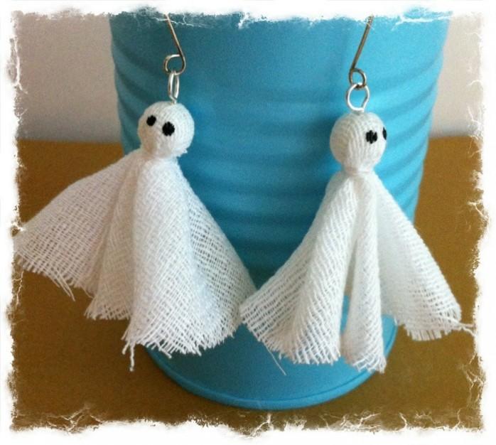 DIY Ghost Earrings