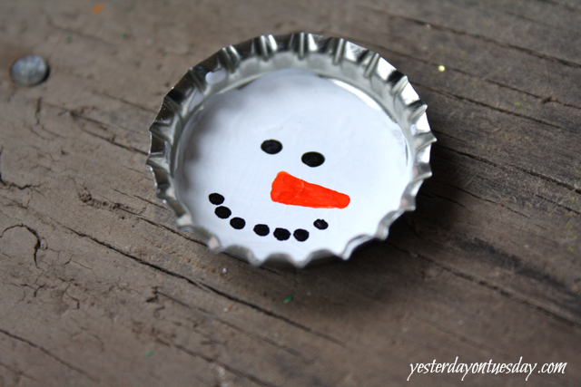 Cheap and cute Bottle Cap Ornaments