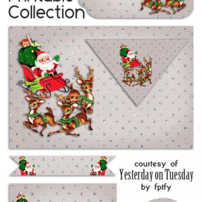 Free Vintage Christmas Party Printables