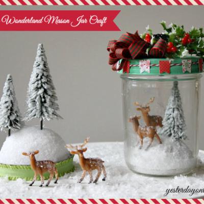 Winter Wonderland Mason Jar Craft