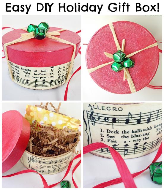 Holiday Gift Box DIY