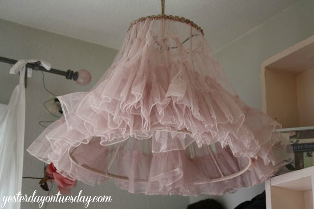 Home Tour Crinoline Lamp Png Holiday Cream Tulle Shade