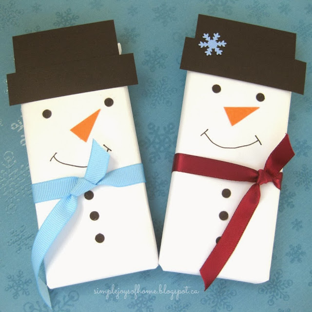 Snowman Chocolate Bars by Simple Joys of Home