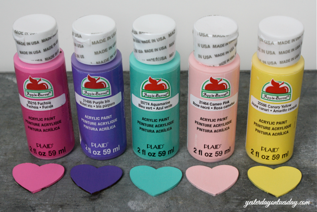 Valentine's Day with Apple Barrel Paints