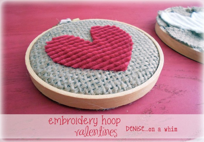 Embroidery Hoop Sweater Valentines