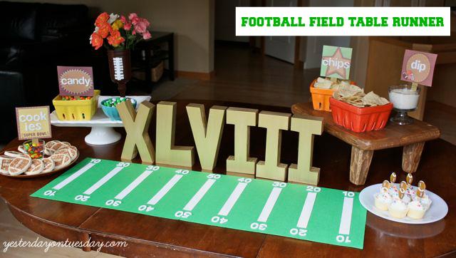 Football Field Table Runner