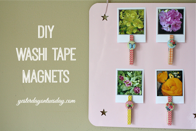 DIY Washi Tape Magnets