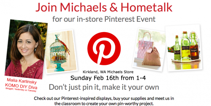 Hometalk and Michaels Pinterest Event