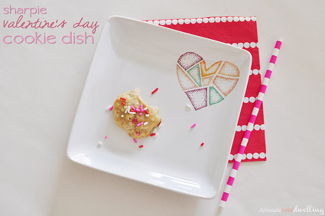 Valentine's Day Cookie Dish by Delineate Your Dwelling