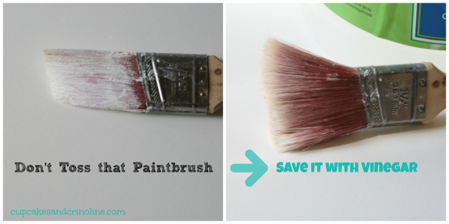 Clean a Dry and Crusted Paintbrush