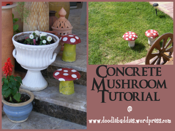 Concrete Mushroom Tutorial by Doodle Buddies