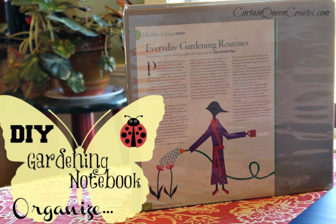 DIY Gardening Notebook from Curtain Queen Creates