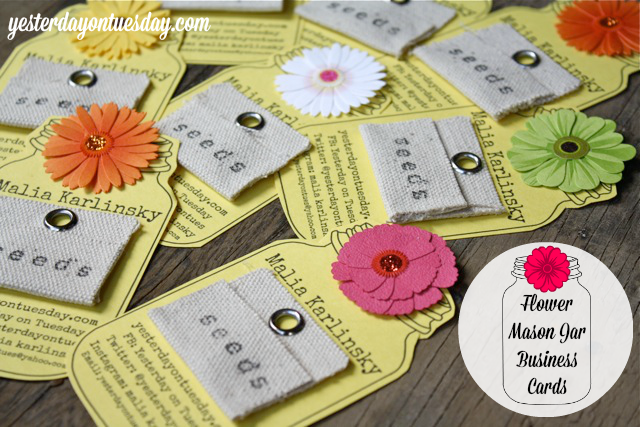 Mason Jar Business Cards