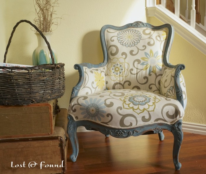 French Chair Makeover by Lost and Found