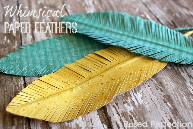 Paper Feathers by Posed to Perfection