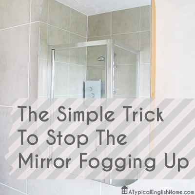 Stop Mirror From Fogging Up
