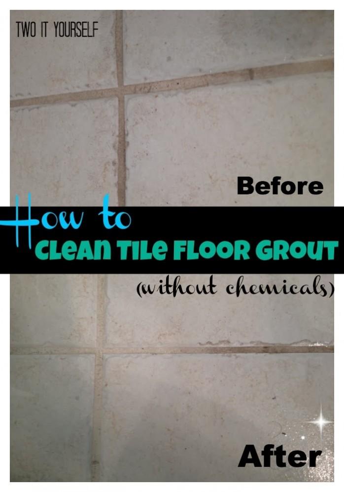 clean tile floor grout
