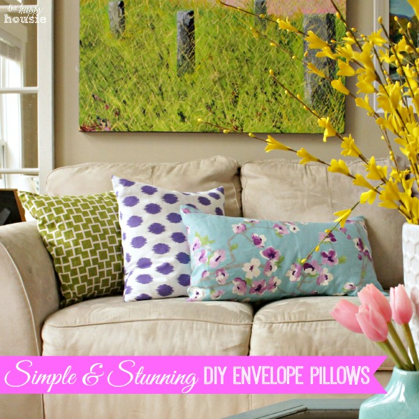DIY Pillow Envelopes by The Happy Housie