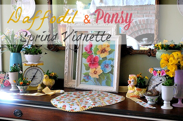 Daffodil and Pansy Spring Vignettes