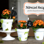 Painted Flower Pots #flowerpots #distressedpaint #flowers