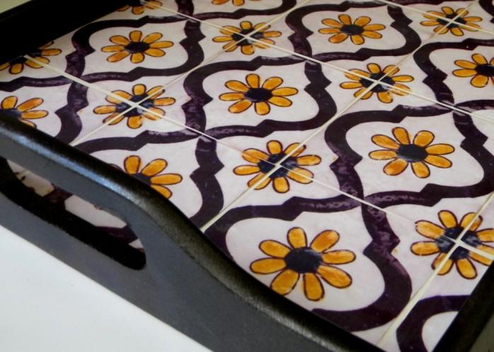 Faux Tile Tray