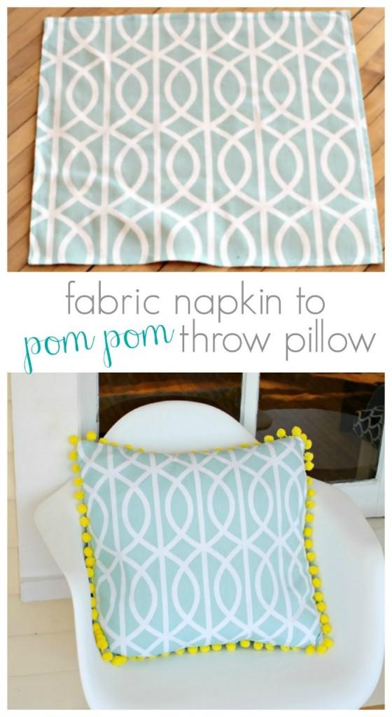 Napkin to Throw Pillow