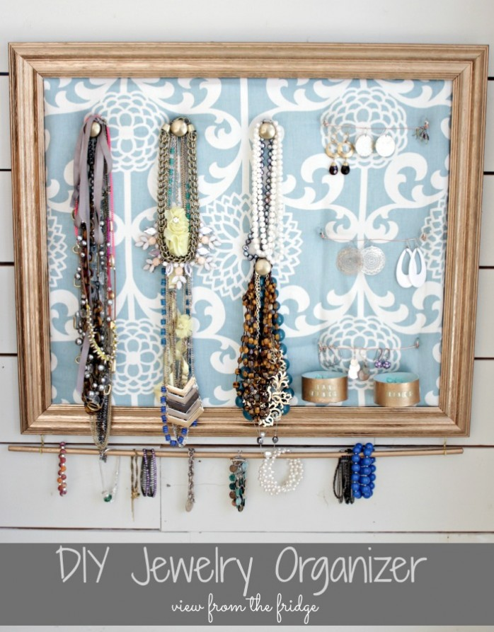 Picture Frame to Jewelry Organizer