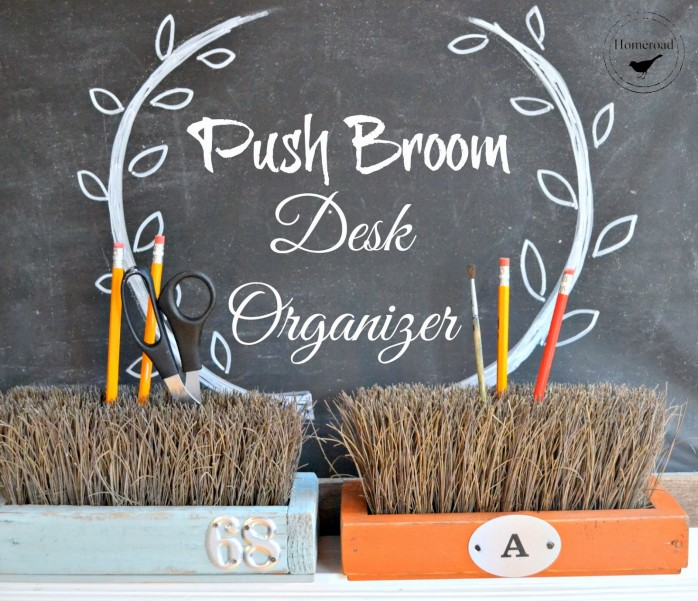 Push Broom Desk Organizer