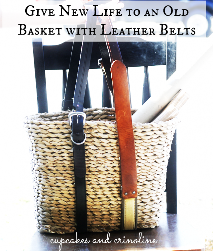 Upcycle a Basket with Old Leather Belts