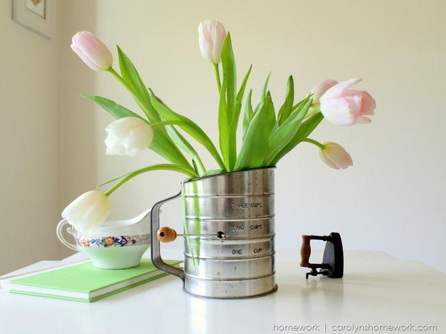Vintage Sifter to Vase