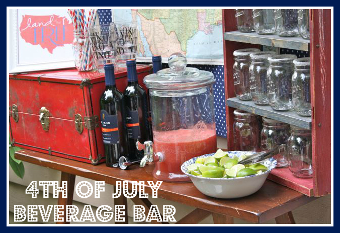 Rustic 4th of July Beverage Car