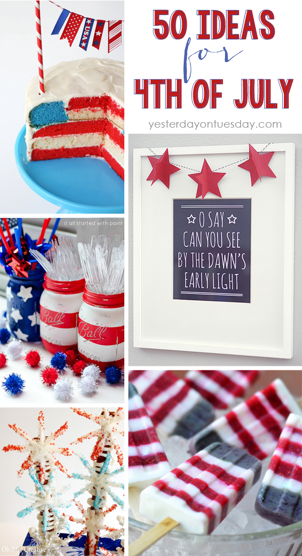 Fourth of July Crafts, DIYs and Recipes