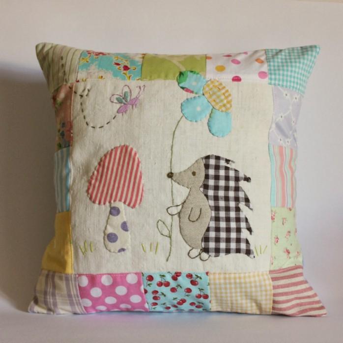 Applique Hedgehog Pillow