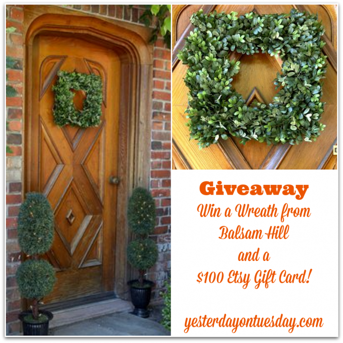 Win a wreath from Balsam Hill and an Etsy gift card for one hundred dollars #balsamhill #celebratemom #celebratelife