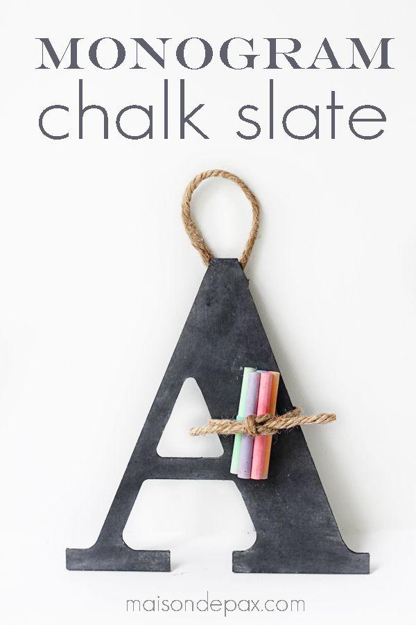 Chalkboard Monogram by MaisonDePax
