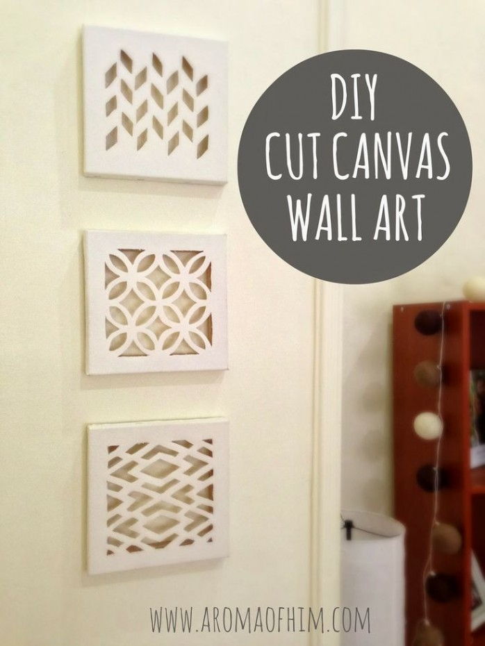 DIY Cut Canvas Wall Art