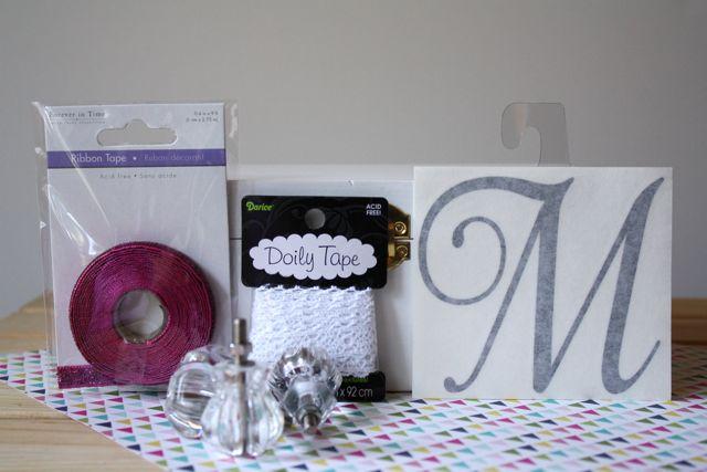 Monogrammed Jewelry Box Supplies