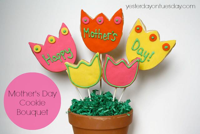 DIY Mother's Day Cookie Bouquet #cookiebouquet #mothersdaycookies