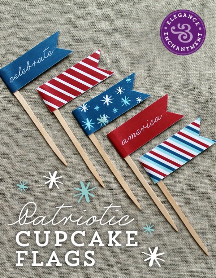 Patriotic-Cupcake-Flags