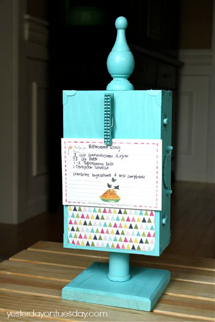 How to make a DIY Recipe Holder