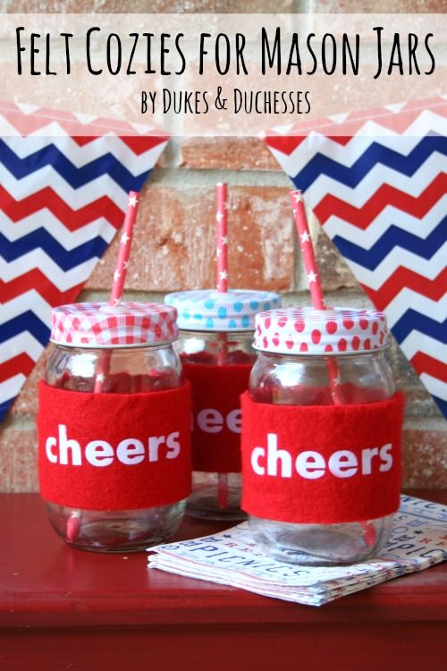 Felt Cozies for Mason Jars by Dukes & Duchesses