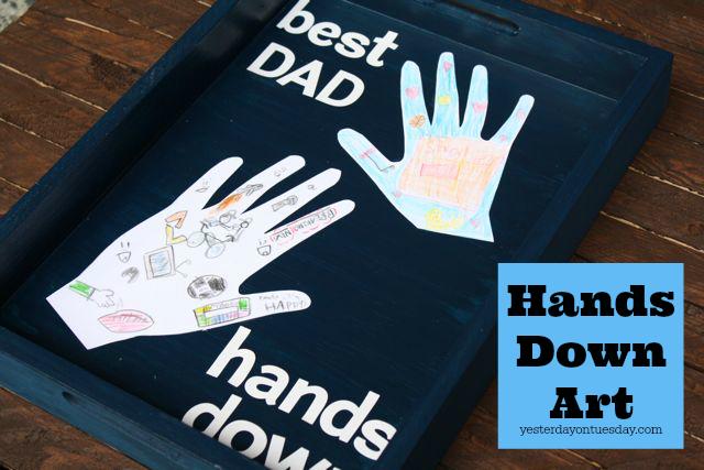 DIY Hands Down Art
