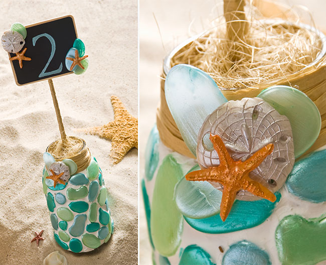 Mason Jar Table Numbers by Cathie and Steve for Plaid
