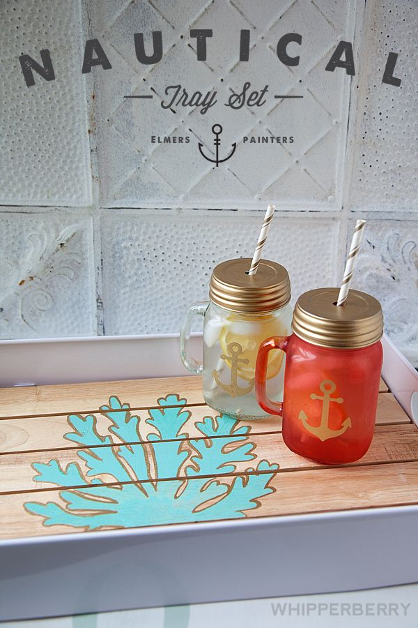 Nautical Tray Set by Whipperberry