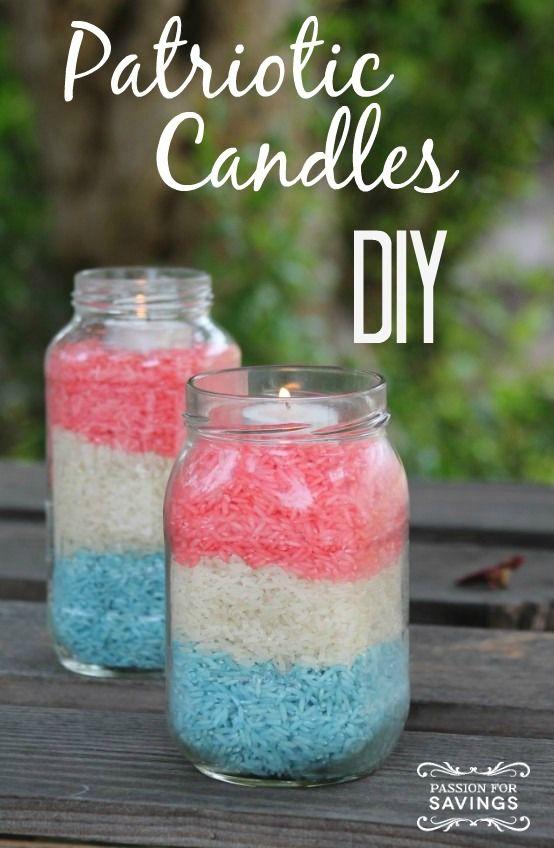 Patriotic Candles DIY