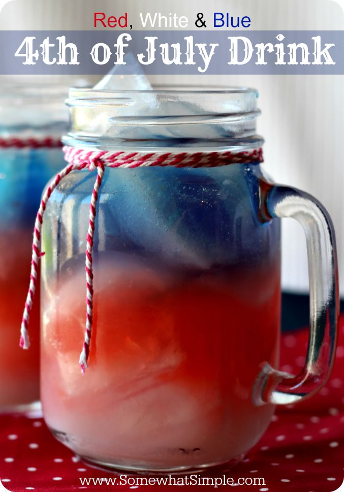 Red, White & Blue 4th of July Drink by Somewhat Simple