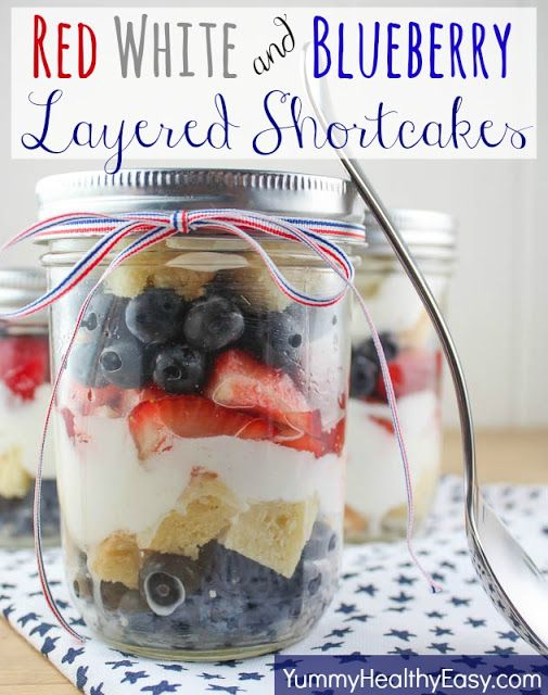 Red White and Blueberry Layered Shortcakes