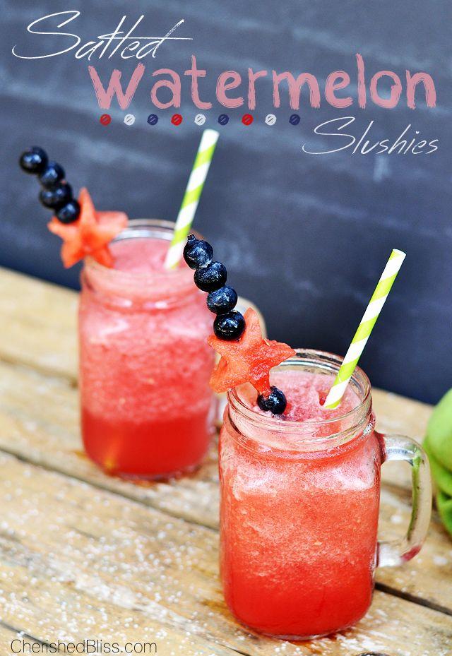 Salted Watermelon Slushies