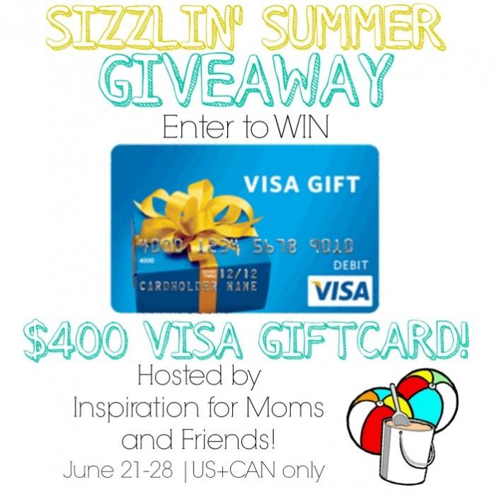 Win a four hundred dollar Visa Gift Card